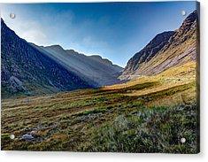 Acrylic Print featuring the photograph Afternoon Sun Rays Bealach Na Ba by Gary Eason