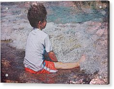 Acrylic Print featuring the photograph Afternoon Surf by Kate Word