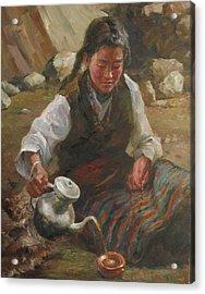 Afternoon Tea Acrylic Print by Kelvin  Lei