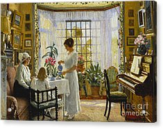 Afternoon Tea Acrylic Print by Paul Fischer