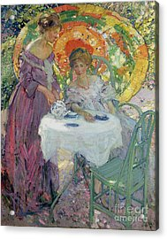 Afternoon Tea Acrylic Print by Richard Edward Miller