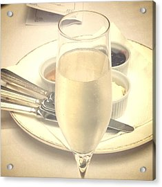 Afternoon Tea With Champagne Acrylic Print by In Plain Sight