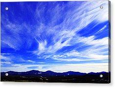 Afton Sky And Mountains I Acrylic Print by Richard Singleton