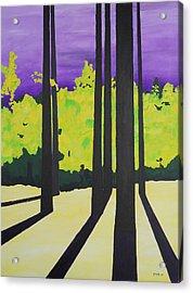 Against A Purple Sky Acrylic Print