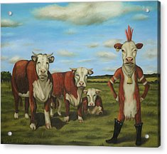 Acrylic Print featuring the painting Against The Herd by Leah Saulnier The Painting Maniac