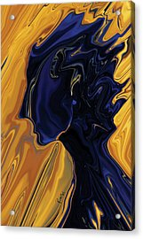 Acrylic Print featuring the digital art Against The Wind by Rabi Khan