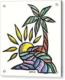 Agana River Guam 2009 Acrylic Print by Marconi Calindas