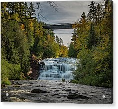 Agate Falls With Railroad Bridge Acrylic Print