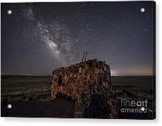 Agate House At Night Acrylic Print by Melany Sarafis