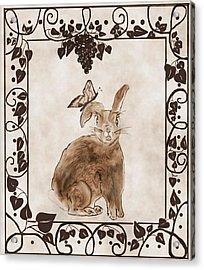 Aged Bunny Acrylic Print