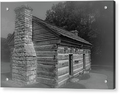 Acrylic Print featuring the photograph Aged Cabin At The Hermitage by James L Bartlett