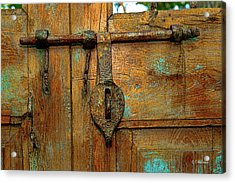 Aged Latch Acrylic Print by Christopher Holmes