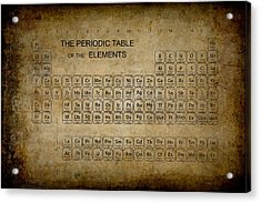 Aged To Perfection Periodic Table Acrylic Print