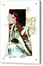 Acrylic Print featuring the mixed media Ageless by Elena Nosyreva