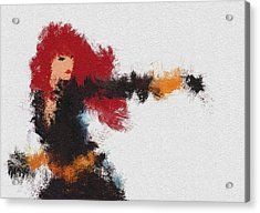 Agent Red Acrylic Print