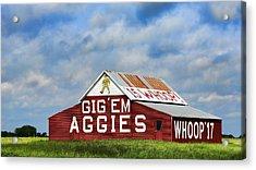 Aggie Nation Barn Acrylic Print