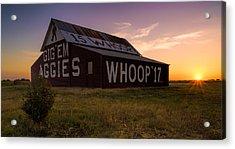 Aggie Sunset Acrylic Print by Jonathan Davison