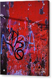 Aging Wall Two Acrylic Print by Reb Frost