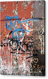 Aging Walls Acrylic Print by Reb Frost