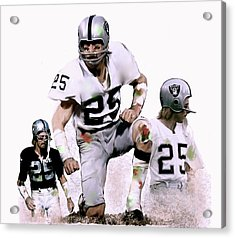 Agony Of Greatness, Vii  Fred Biletnikoff  Acrylic Print by Iconic Images Art Gallery David Pucciarelli