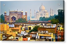 Agra Rooftop Acrylic Print by Derek Selander