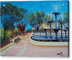 Aguadilla Plaza 2009 Acrylic Print