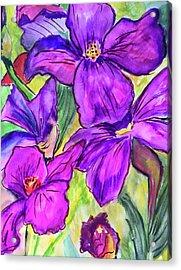 Ah, Iris Acrylic Print