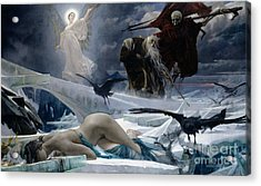 Ahasuerus At The End Of The World Acrylic Print by Adolph Hiremy Hirschl