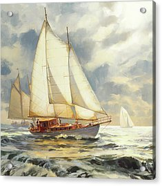 Acrylic Print featuring the painting Ahead Of The Storm by Steve Henderson