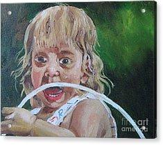 Ahh Acrylic Print by WorldWide Art Gallery