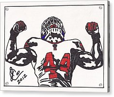 Acrylic Print featuring the drawing Ahmad Bradshaw by Jeremiah Colley