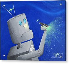 A.i. And The Firefly Acrylic Print