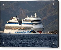 Aida Stella Cruise Ship Leaving Marmaris Acrylic Print