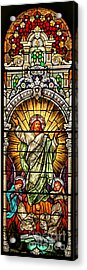 Acrylic Print featuring the photograph Stained Glass Scene 10 Crop by Adam Jewell