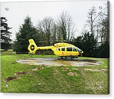 Air Ambulance Helicopter Acrylic Print
