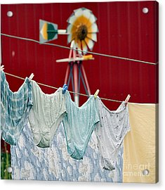 Acrylic Print featuring the photograph Air Drying by Jan Piller