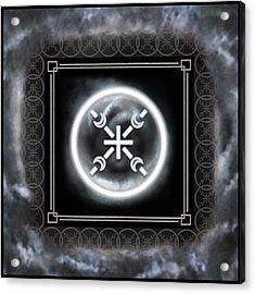 Acrylic Print featuring the digital art Air Emblem Sigil by Shawn Dall