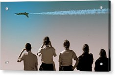Acrylic Print featuring the photograph Air Force In Force by Karen Musick