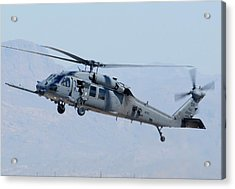 Air Force Sikorsky Hh-60g Blackhawk 90-26228 Mesa Gateway Airport March 11 2011 Acrylic Print by Brian Lockett