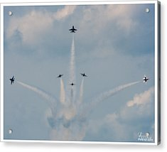Acrylic Print featuring the photograph Air Force Thunderbirds by Linda Constant