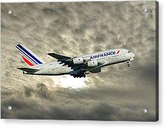 Air France Airbus A380-861 115 Acrylic Print