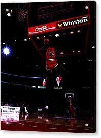 Air Jordan 1988 Slam Dunk Contest Acrylic Print by Brian Reaves