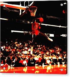 Air Jordan 1988 Slam Dunk Contest 8c Acrylic Print by Brian Reaves