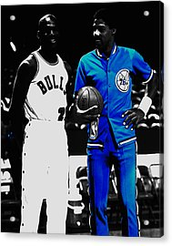 Air Jordan And Julius Erving Acrylic Print by Brian Reaves