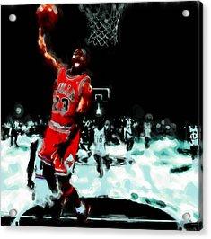 Air Jordan Break Away Acrylic Print by Brian Reaves