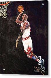 Air Jordan Acrylic Print by Dave Olsen