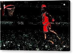 Air Jordan In Flight 3g Acrylic Print by Brian Reaves