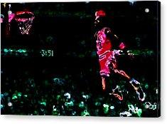 Air Jordan In Flight Thermal Acrylic Print by Brian Reaves