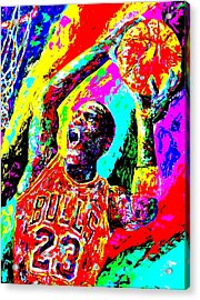 Air Jordan Acrylic Print by Mike OBrien