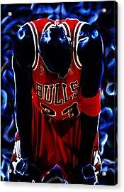 Air Jordan Never Quit Acrylic Print by Brian Reaves